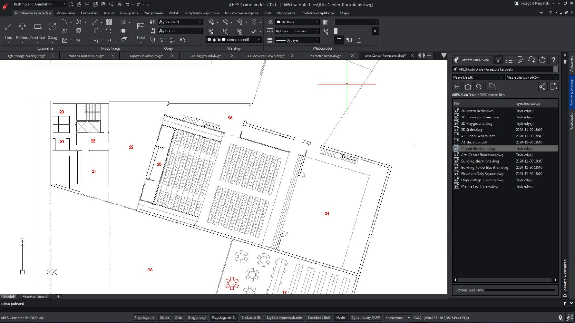 ares cad, drafting and annotation, widok cad, ustawienia cad, opcje cad