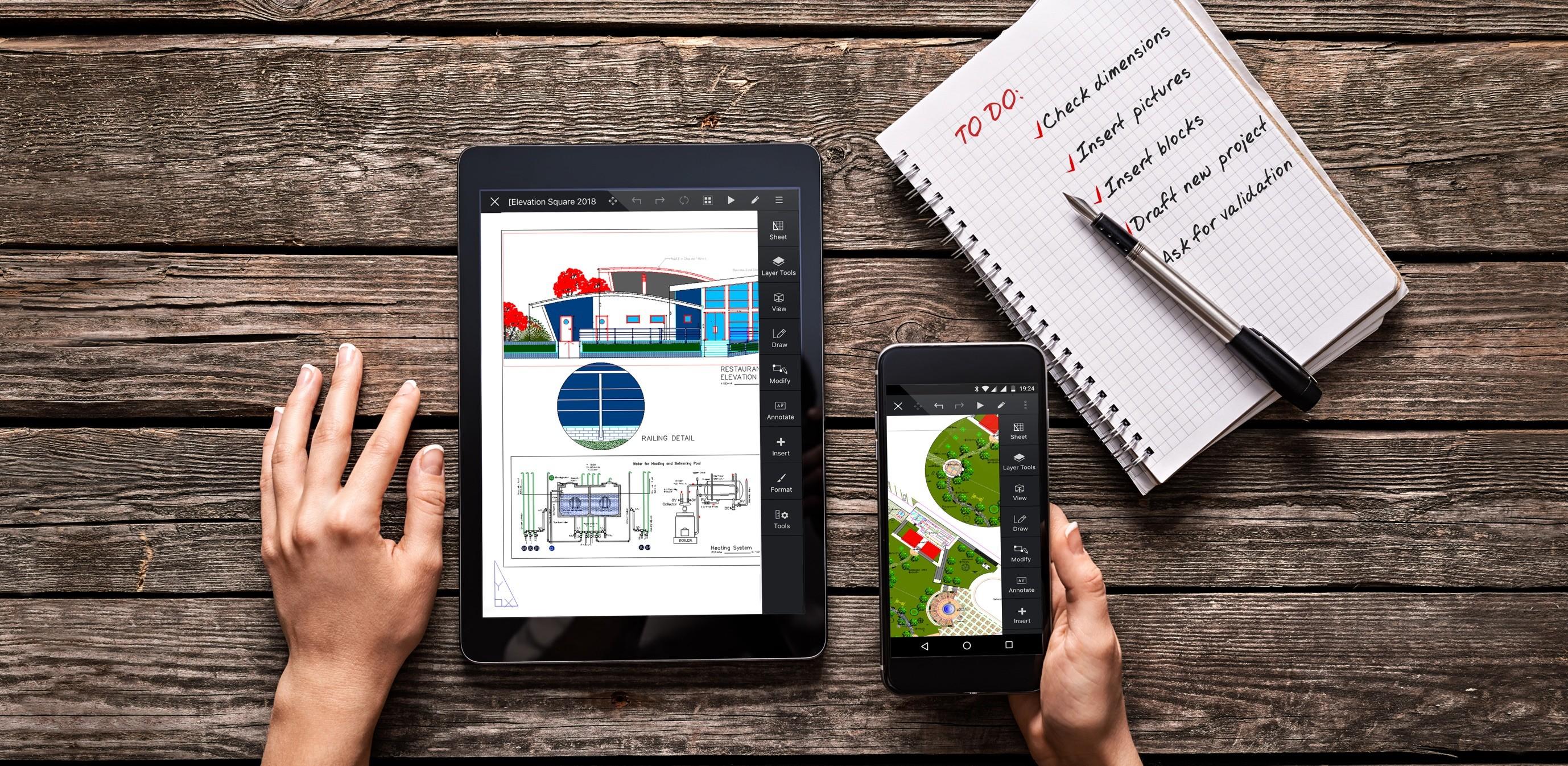 ARES Touch, CAD Mobilny, CAD na tablet, CAD na smartfon, CAD na Androida, CAD na iOS